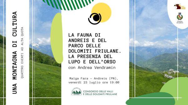 La fauna di Andreis e del Parco delle Dolomiti Friulane. La presenza del lupo e dell'orso. Con Andrea Vendramin