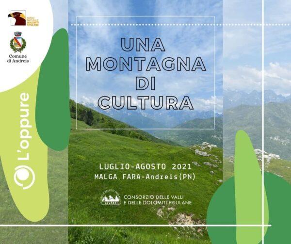 Una montagna di cultura, 4 eventi ad alta quota - Da luglio ad agosto 2021 a Malga Fara di Andreis